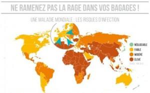 présence de la rage dans le monde